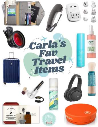 Carla's Fav Travel Items